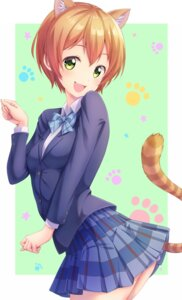 Rating: Safe Score: 20 Tags: animal_ears hoshizora_rin love_live! nekomimi seifuku tagme tail User: RyuZU