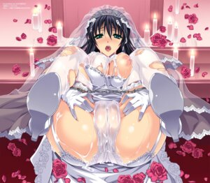 Rating: Explicit Score: 93 Tags: breasts cameltoe cum dress karasuma_nishiki nipples pantsu stockings thighhighs torn_clothes wedding_dress User: SenjounoValkyria