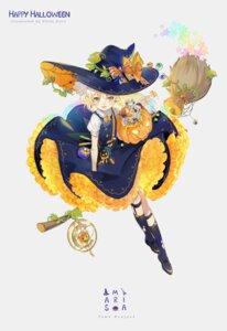 Rating: Safe Score: 19 Tags: dress ekita_gen halloween kirisame_marisa skirt_lift touhou witch User: RyuZU