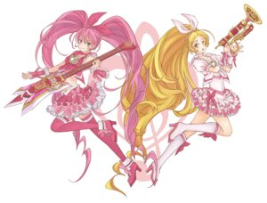 Rating: Safe Score: 11 Tags: crossover guitar houjou_hibiki kamen_rider kamen_rider_hibiki minamino_kanade pretty_cure suite_pretty_cure thighhighs to-masu User: Kaixa
