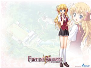 Rating: Safe Score: 13 Tags: bekkankou fortune_arterial seifuku sendou_erika wallpaper User: admin2