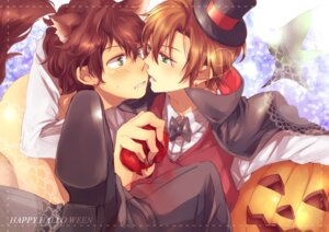 Rating: Safe Score: 10 Tags: halloween hetalia_axis_powers male riku_(r_e) south_italy spain yaoi User: Nekotsúh