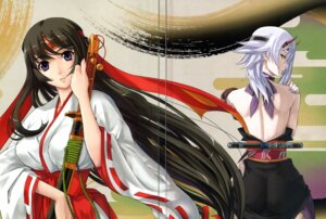 Rating: Questionable Score: 27 Tags: crease eiwa miko queen's_blade shizuka tomoe User: YamatoBomber