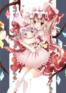 Rating: Safe Score: 19 Tags: flandre_scarlet nogi_takayoshi remilia_scarlet thighhighs touhou wings User: 椎名深夏