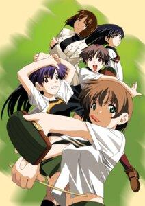 Rating: Safe Score: 5 Tags: chitose_midori green_green iino_chigusa katakura_shinji kutsuki_futaba kutsuki_wakaba minami_sanae seifuku User: blooregardo