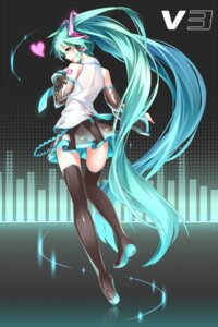 Rating: Safe Score: 70 Tags: hatsune_miku headphones heels takanashie thighhighs vocaloid User: Amdx1