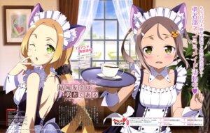 Rating: Questionable Score: 15 Tags: animal_ears maid nekomimi no_bra yuuki_yuuna_wa_yuusha_de_aru User: drop