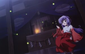 Rating: Safe Score: 23 Tags: hanyuu higurashi_no_naku_koro_ni horns miko sakai_kyuuta User: Radioactive