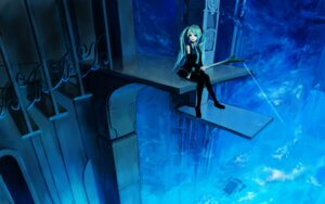 Rating: Safe Score: 27 Tags: hatsune_miku teralimit thighhighs vocaloid wallpaper User: charunetra