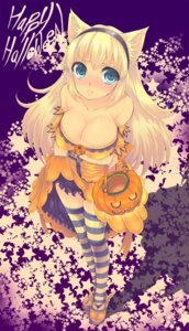 Rating: Safe Score: 25 Tags: animal_ears breast_hold cleavage halloween nekomimi sakurai_unan thighhighs User: charunetra