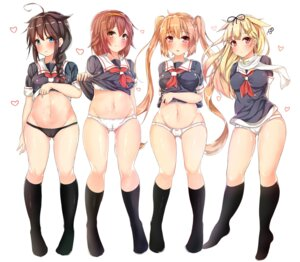 Rating: Questionable Score: 90 Tags: cameltoe kantai_collection murasame_(kancolle) pantsu pikatchi seifuku shigure_(kancolle) shiratsuyu_(kancolle) shirt_lift yuudachi_(kancolle) User: Mr_GT