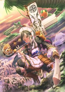 Rating: Safe Score: 8 Tags: abo_(kawatasyunnnosukesabu) armor maid sword thighhighs wa_maid User: RyuZU