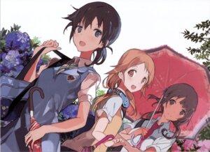 Rating: Safe Score: 32 Tags: headphones miyamoto_konatsu okita_sawa sakai_wakana seifuku tanu tari_tari User: Radioactive