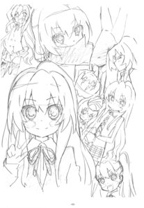 Rating: Safe Score: 1 Tags: aisaka_taiga monochrome sato satosute sketch toradora! User: Radioactive