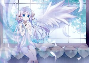 Rating: Questionable Score: 27 Tags: hatsune_miku mariwai naked vocaloid wings User: Hatsukoi