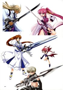 Rating: Safe Score: 10 Tags: agito armor cypha_of_huckebein devil dress eyepatch gun higa_yukari mahou_senki_lyrical_nanoha_force mahou_shoujo_lyrical_nanoha signum sword takamachi_nanoha tohma_avenir wings User: Radioactive