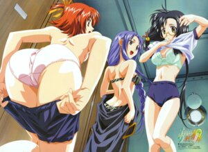 Rating: Questionable Score: 59 Tags: ass bra buruma cleavage fixed fukushima_kinu gym_uniform honda_sarasa hosoda_naoto megane pantsu raimuiro_senkitan sanada_momen shirt_lift topless undressing User: Mogunzo