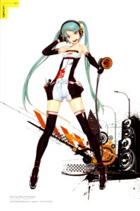 Rating: Safe Score: 46 Tags: color_issue hatsune_miku racing_miku redjuice thighhighs vocaloid User: Radioactive