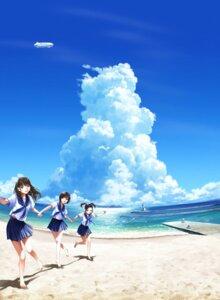 Rating: Safe Score: 50 Tags: anegasaki_nene kobayakawa_rinko landscape love_plus mino_taro seifuku takane_manaka User: hammer