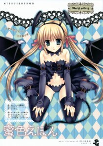 Rating: Safe Score: 40 Tags: hayate_no_gotoku sanzenin_nagi tail tatekawa_mako thighhighs wings wnb User: petopeto