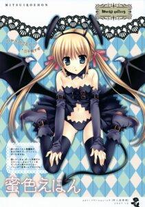 Rating: Safe Score: 42 Tags: hayate_no_gotoku sanzenin_nagi tail tatekawa_mako thighhighs wings wnb User: petopeto