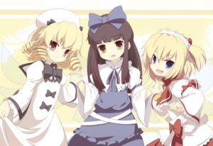 Rating: Safe Score: 12 Tags: dress luna_child machily star_sapphire sunny_milk touhou wings User: charunetra