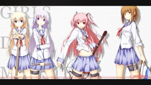 Rating: Safe Score: 20 Tags: an_(angular-angler) angel_beats! garter guitar hisako irie_(angel_beats!) seifuku sekine wallpaper yui_(angel_beats!) User: Ponnkun