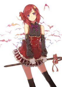 Rating: Safe Score: 95 Tags: dress huanxiang_heitu love_live! nishikino_maki thighhighs User: DarkRoseofHell