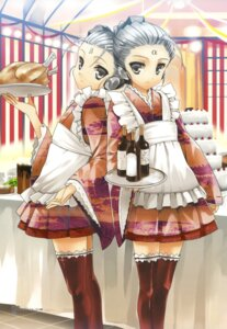 Rating: Safe Score: 16 Tags: koin maid thighhighs wa_maid User: fireattack