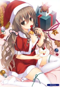 Rating: Questionable Score: 115 Tags: christmas cleavage dress muririn thighhighs User: Twinsenzw