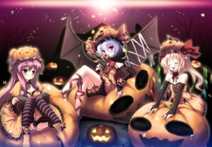 Rating: Safe Score: 44 Tags: flandre_scarlet halloween pantsu patchouli_knowledge remilia_scarlet shimapan touhou usume_shirou wings User: Nekotsúh