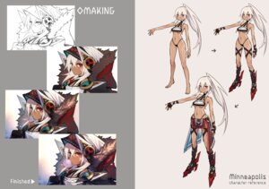 Rating: Questionable Score: 12 Tags: azur_lane bikini_armor character_design heels minneapolis_(azur_lane) shizuki_hitomi_(artist) sketch tattoo underboob User: Nepcoheart