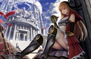 Rating: Safe Score: 27 Tags: armor cleavage landscape sato_seitaka sword thighhighs User: Mr_GT