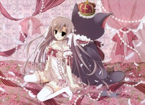 Rating: Safe Score: 41 Tags: cleavage dress inugami_kira neko thighhighs User: Hatsukoi