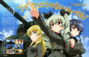 Rating: Questionable Score: 22 Tags: anchovy carpaccio girls_und_panzer pepperoni uniform yoshida_kousuke User: drop
