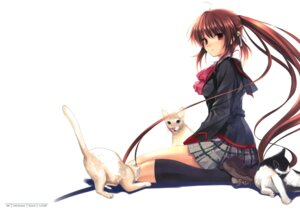 Rating: Safe Score: 98 Tags: cradle fixed little_busters! misaki_kurehito natsume_rin neko seifuku User: fireattack