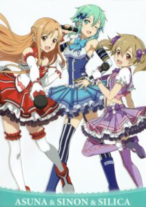 Rating: Safe Score: 27 Tags: asuna_(sword_art_online) dress silica sinon stockings sword_art_online tagme thighhighs User: Radioactive