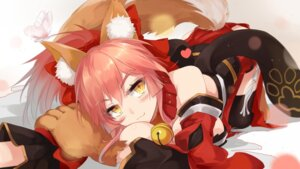 Rating: Questionable Score: 57 Tags: animal_ears bzerox fate/grand_order no_bra tamamo_cat thighhighs wallpaper User: charunetra