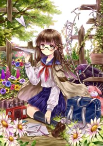 Rating: Safe Score: 34 Tags: hanekoto megane seifuku User: blooregardo