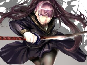 Rating: Questionable Score: 41 Tags: dodai_shouji pantyhose seifuku sword User: fireattack