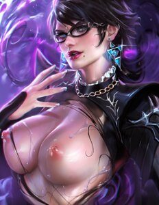 Rating: Questionable Score: 96 Tags: bayonetta bayonetta_(character) bayonetta_2 breasts megane nipples no_bra sakimichan torn_clothes wet User: Mr_GT