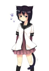 Rating: Safe Score: 21 Tags: animal_ears funami_yui misocha nekomimi seifuku tail yuru_yuri User: Radioactive