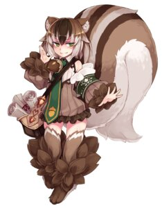Rating: Questionable Score: 23 Tags: animal_ears dress kenkou_cross monster_girl tail thighhighs User: NotRadioactiveHonest