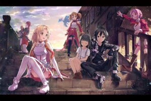Rating: Safe Score: 67 Tags: agil asuna_(sword_art_online) kirito lisbeth pantsu pina shouin silica sword_art_online thighhighs yui_(sword_art_online) User: fairyren