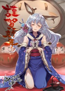 Rating: Safe Score: 25 Tags: animal_ears bunny_ears ferry_(granblue_fantasy) granblue_fantasy kimono kumonji_aruto no_bra User: Mr_GT
