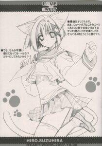 Rating: Safe Score: 6 Tags: animal_ears monochrome nekomimi seifuku suzuhira_hiro tail User: admin2
