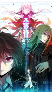 Rating: Safe Score: 25 Tags: guilty_crown ouma_shuu rokunasi_hitonasi sword tsutsugami_gai yuzuriha_inori User: Templa