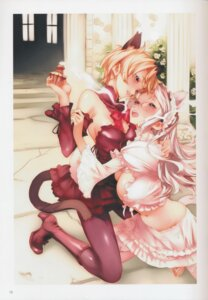 Rating: Safe Score: 42 Tags: animal_ears cleavage heels megane nekomimi nishieda tail thighhighs yuri User: eccdbb