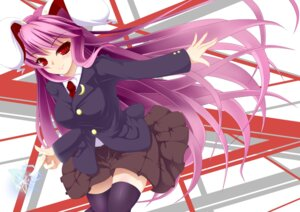 Rating: Safe Score: 14 Tags: animal_ears bunny_ears negamaro reisen_udongein_inaba thighhighs touhou User: inumimi.7