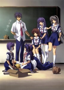 Rating: Safe Score: 37 Tags: botan_(clannad) clannad clannad_after_story fujibayashi_kyou fujibayashi_ryou furukawa_nagisa ichinose_kotomi okazaki_tomoya sakagami_tomoyo seifuku sunohara_youhei thighhighs User: Share